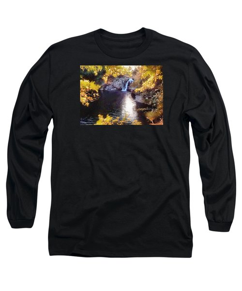Pool And Falls Long Sleeve T-Shirt by Charmaine Zoe