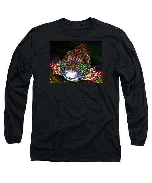 Poopaa Hawaiian Hawk Fish Long Sleeve T-Shirt