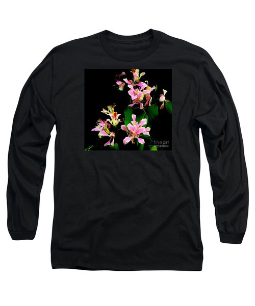 Poor Mans Orchid Long Sleeve T-Shirt by Amar Sheow