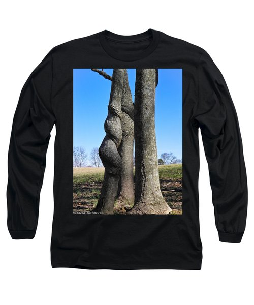 Long Sleeve T-Shirt featuring the photograph Poor Twisted Tree by Nick Kirby