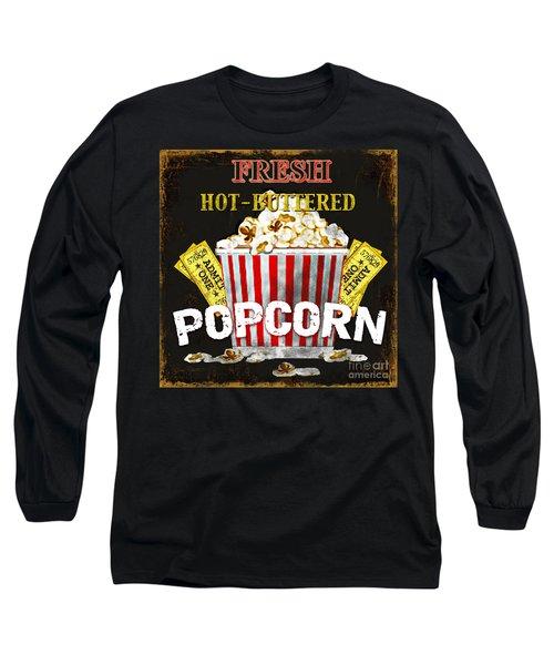 Popcorn Please Long Sleeve T-Shirt by Jean Plout