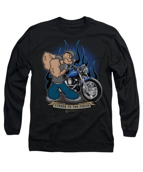 Popeye - Biker Popeye Long Sleeve T-Shirt by Brand A