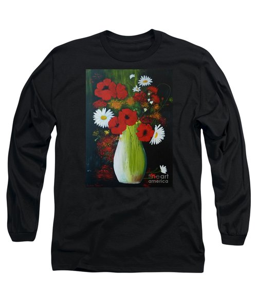 Poppies And Daisies Long Sleeve T-Shirt