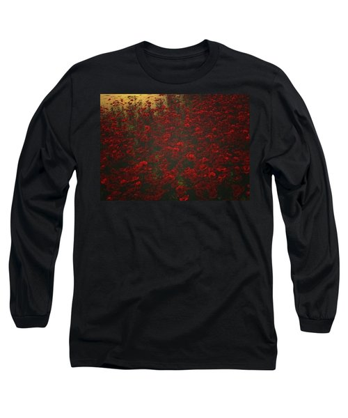 Poppies In The Rain Long Sleeve T-Shirt