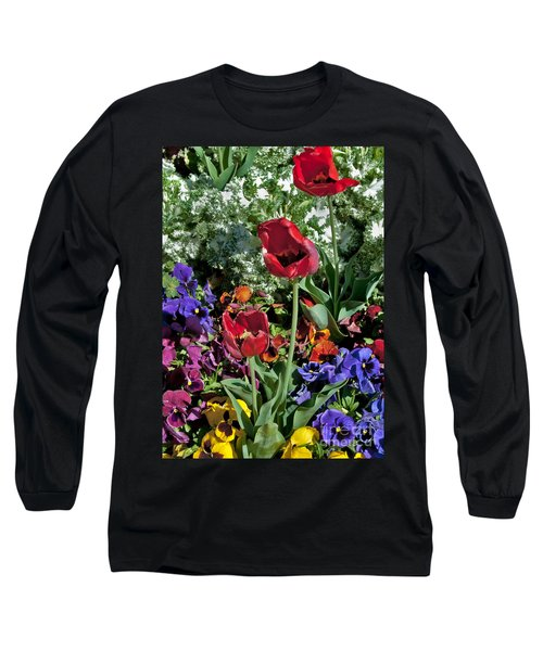 Long Sleeve T-Shirt featuring the photograph Poppies by Mae Wertz