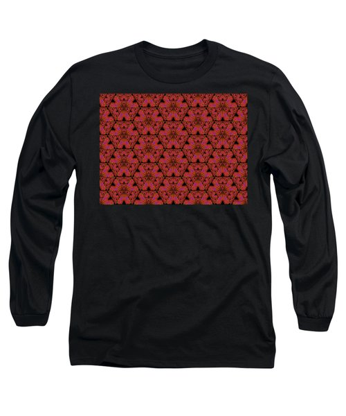 Poppy Sierpinski Triangle Fractal Long Sleeve T-Shirt