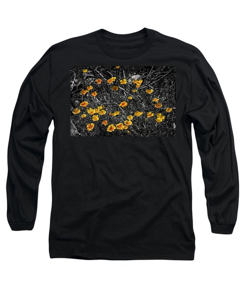 Long Sleeve T-Shirt featuring the photograph Poppyflies by Mark Myhaver