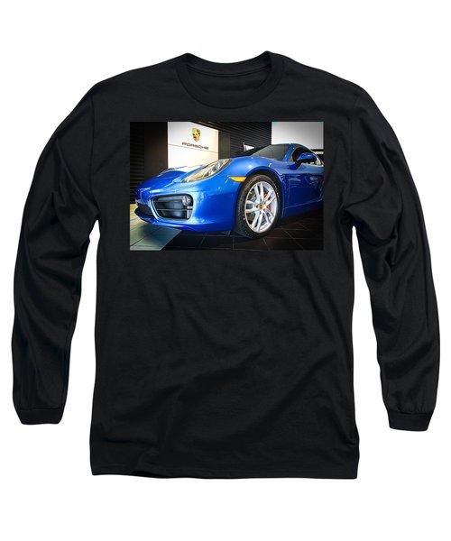 Porsche Cayman S In Sapphire Blue Long Sleeve T-Shirt
