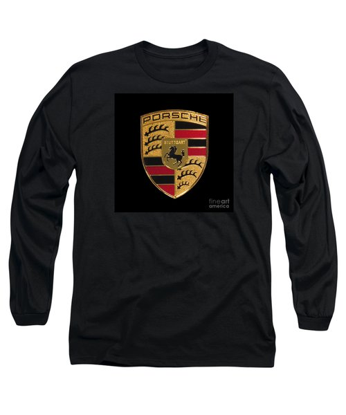 Porsche Emblem - Black Long Sleeve T-Shirt