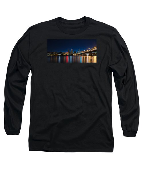 Portland Oregon Nightscape Long Sleeve T-Shirt