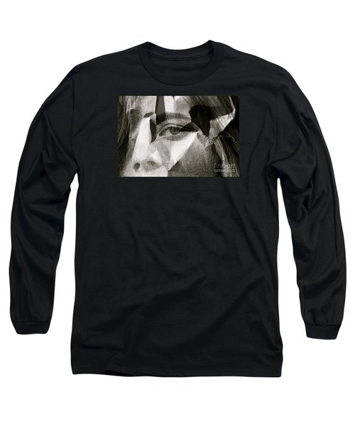 Portrait In Black And White Long Sleeve T-Shirt by Michael Cinnamond