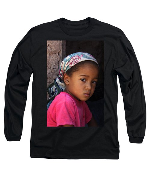 Portrait Of A Berber Girl Long Sleeve T-Shirt