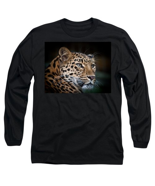 Portrait Of A Leopard Long Sleeve T-Shirt