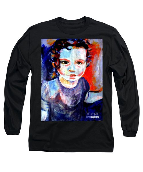 Portrait Of A Little Girl Long Sleeve T-Shirt