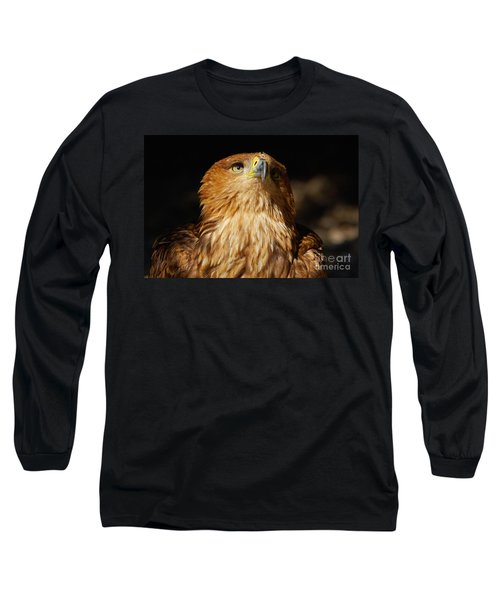 Portrait Of An Eastern Imperial Eagle Long Sleeve T-Shirt