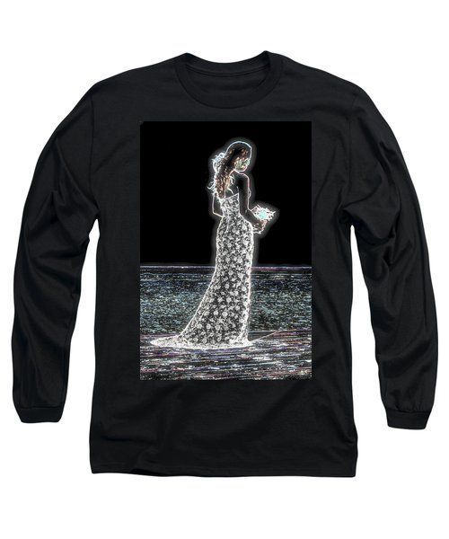 Posing Shyly Long Sleeve T-Shirt