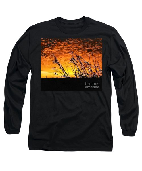 Long Sleeve T-Shirt featuring the photograph Post Hurricane Rita At Dockside In Beaumont Texas Usa by Michael Hoard