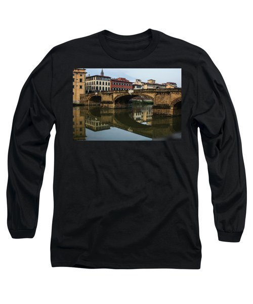 Long Sleeve T-Shirt featuring the photograph Postcard From Florence  by Georgia Mizuleva