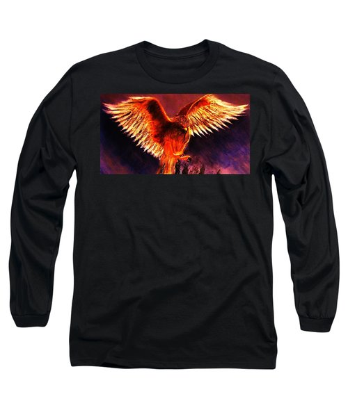 Long Sleeve T-Shirt featuring the painting Power.. by Cristina Mihailescu