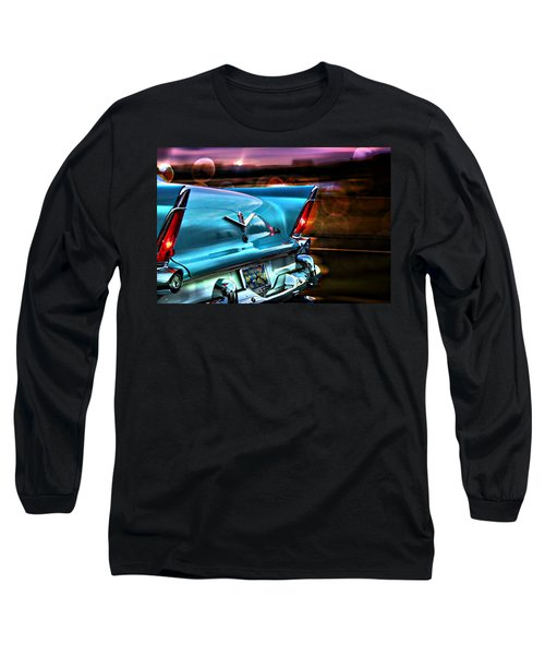 Blue Long Sleeve T-Shirt featuring the photograph Powerflite by Aaron Berg