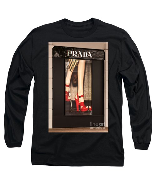Prada Red Shoes Long Sleeve T-Shirt