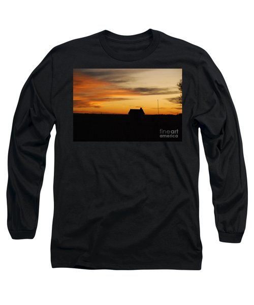 Prairie Sunset Long Sleeve T-Shirt by Mary Carol Story