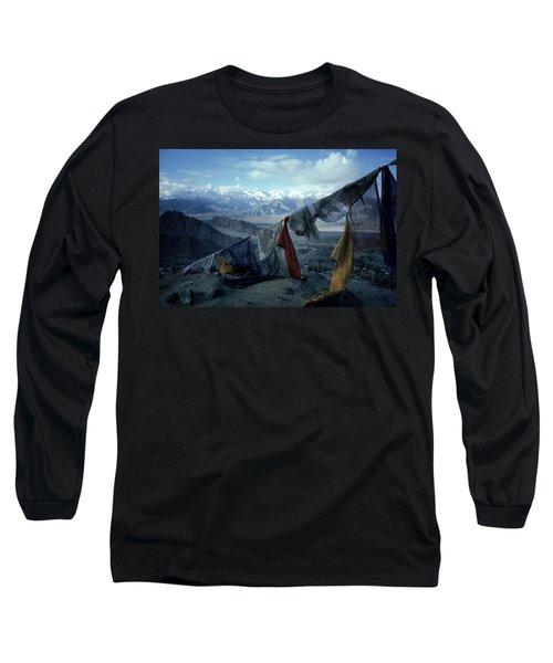 Prayer Flags Leh Ladakh Long Sleeve T-Shirt