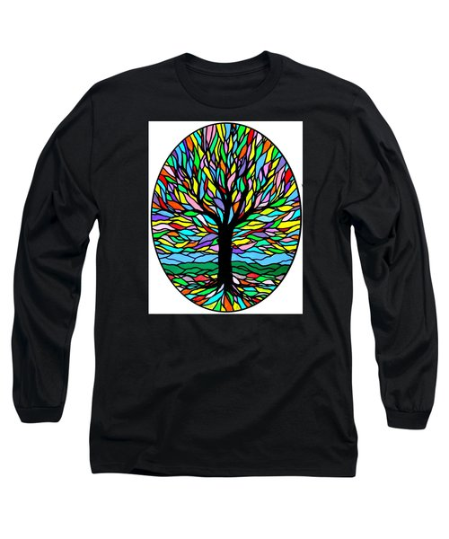 Prayer Tree Long Sleeve T-Shirt by Jim Harris
