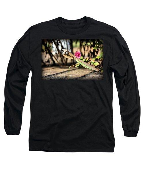 Long Sleeve T-Shirt featuring the photograph Praying Mantis by Kristin Elmquist