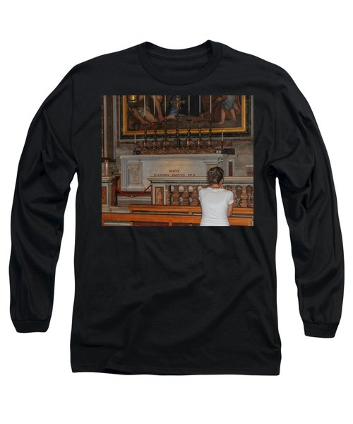 Praying To Pope John Paul II  Long Sleeve T-Shirt