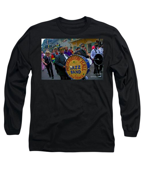 New Orleans Jazz Band  Long Sleeve T-Shirt by Luana K Perez