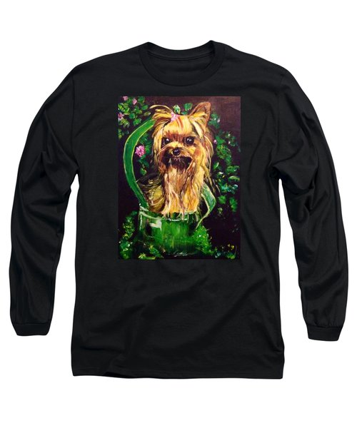 Long Sleeve T-Shirt featuring the painting Pretty Bambi by Belinda Low
