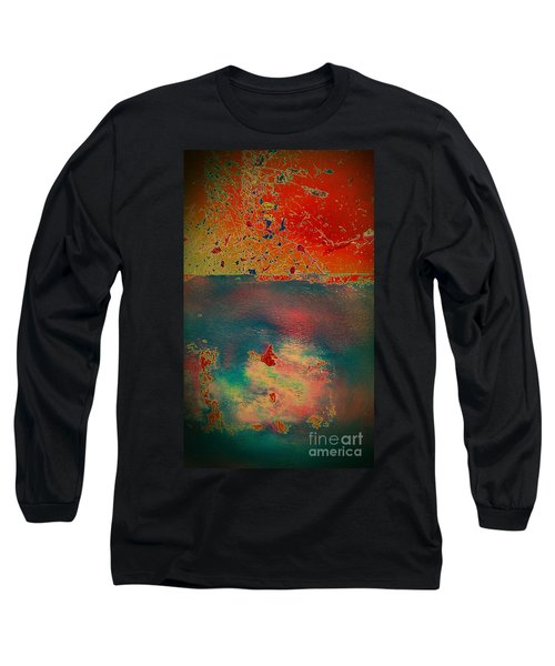Long Sleeve T-Shirt featuring the painting Primordial by Jacqueline McReynolds