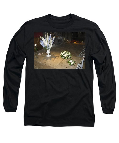 Long Sleeve T-Shirt featuring the photograph Princess Grace Tomb by Allen Sheffield