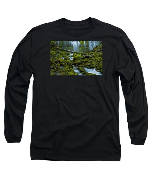 Long Sleeve T-Shirt featuring the photograph Proxy Falls by Nick  Boren