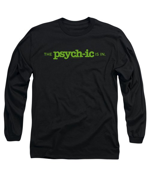 Psych - The Psychic Is In Long Sleeve T-Shirt