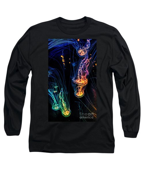 Psychedelic Cnidaria Long Sleeve T-Shirt by Olga Hamilton