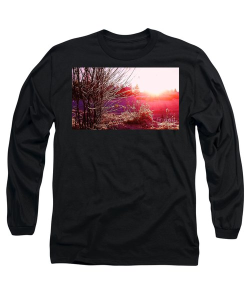 Long Sleeve T-Shirt featuring the photograph Psychedelic Winter   by Martin Howard