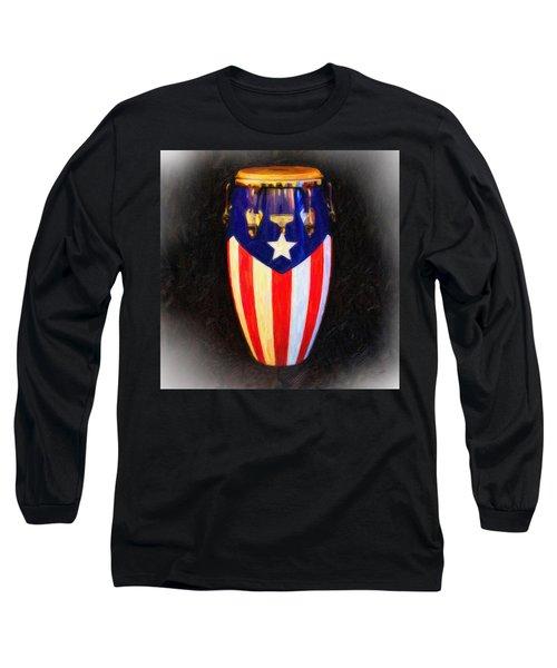 Puerto Rican Bomba Long Sleeve T-Shirt