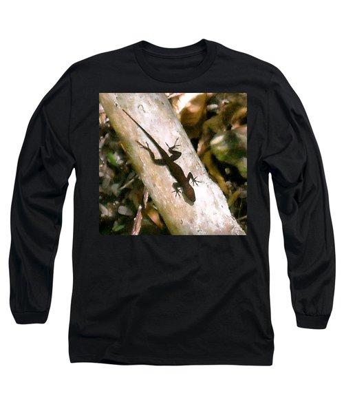 Long Sleeve T-Shirt featuring the photograph Puerto Rico Lizard by Daniel Sheldon