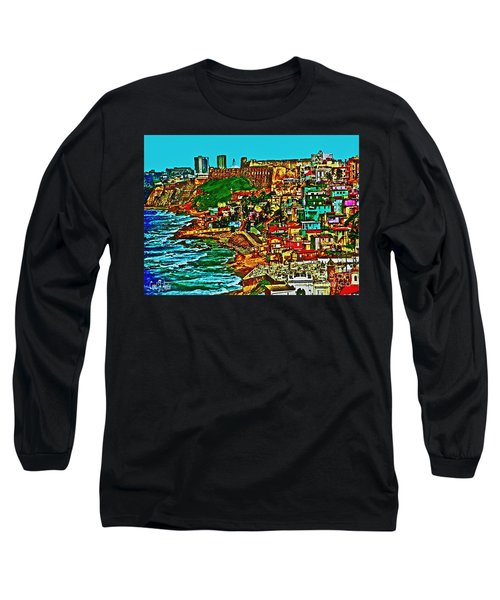 Old San Juan Puerto Rico Walled City Long Sleeve T-Shirt by Carol F Austin