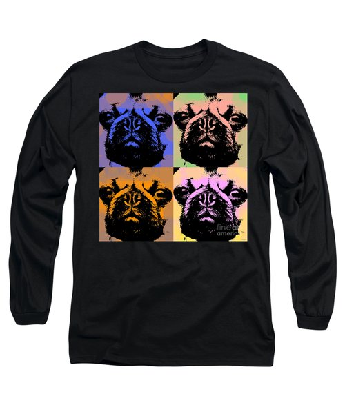 Pug Pop Art Long Sleeve T-Shirt