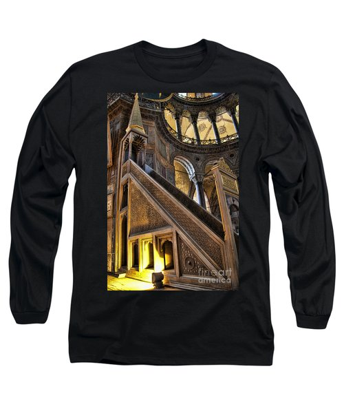 Pulpit In The Aya Sofia Museum In Istanbul  Long Sleeve T-Shirt