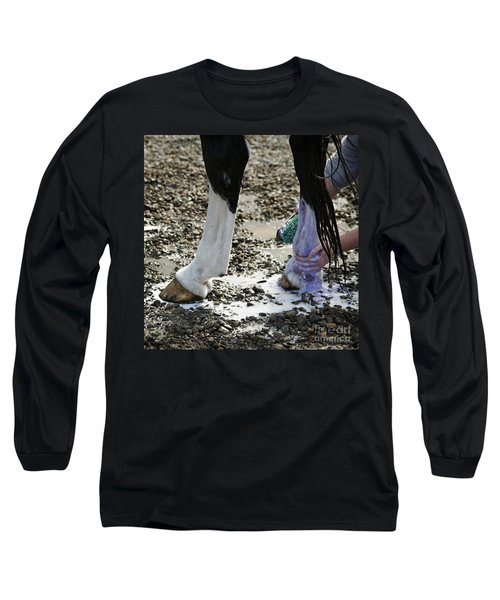 Purple And Green Equals White Long Sleeve T-Shirt
