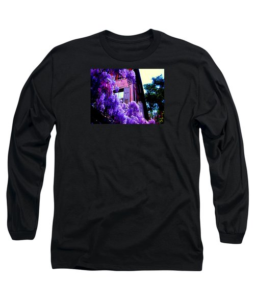 Long Sleeve T-Shirt featuring the photograph Purple Cheer by Zafer Gurel