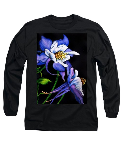 Purple Columbine Long Sleeve T-Shirt