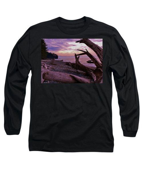 Long Sleeve T-Shirt featuring the photograph Purple Dreams In Bc by Barbara St Jean
