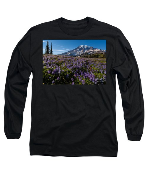 Purple Fields Forever And Ever Long Sleeve T-Shirt by Mike Reid
