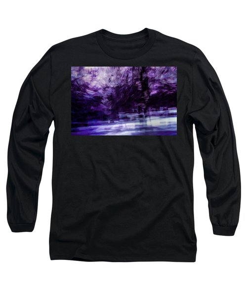 Purple Fire Long Sleeve T-Shirt
