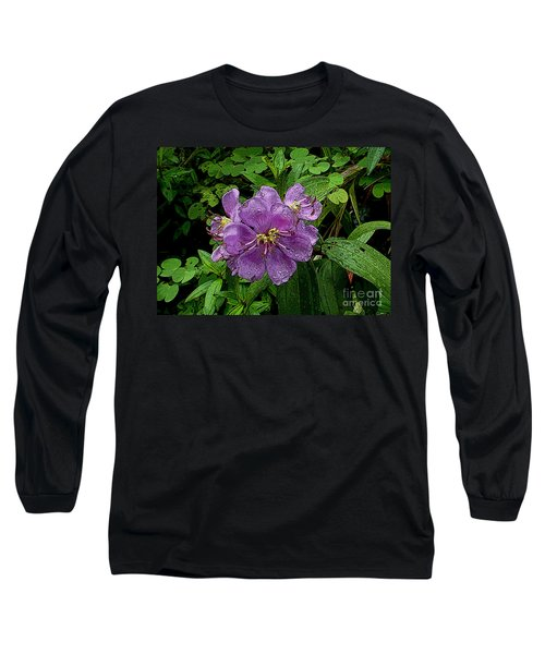 Long Sleeve T-Shirt featuring the photograph Purple Flower by Sergey Lukashin